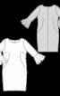 Сукня шовкова О-силуету з воланами - фото 3