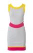 Сукня міні з рельєфними швами - фото 2