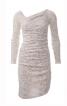 Сукня по фігурі з діагональним рельєфним швом - фото 2