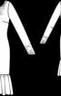 Сукня з декольте на спинці і воланом - фото 3