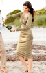 Сукня по фігурі з ефектом запаху і драпіровками - фото 1