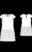 Сукня лаконічного крою з короткими рукавами - фото 3