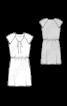 Платье с рукавами реглан и кулиской на талии - фото 3