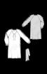 Платье с длинными рукавами реглан и поясом - фото 3