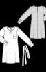 Сукня простого крою з поясом - фото 3