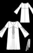 Сукня зі складками і рукавами-розтрубами - фото 3