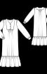 Сукня максі з пластроном - фото 3