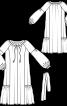 Сукня просторого крою з рукавами-балон - фото 3