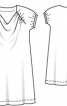 Сукня трикотажна просторого крою - фото 3