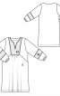 Сукня прямого силуету з пластроном - фото 3