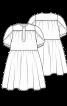 Сукня вільного крою із застібкою поло - фото 3