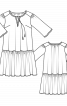 Сукня просторого крою з максі-оборкою - фото 3