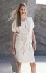 Сукня просторого крою з куліскою на талії - фото 1