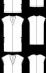 Сукня прямого крою з V-подібним вирізом - фото 3