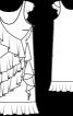 Сукня прямого крою з пишними воланами - фото 3