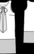 Сукня міні прямого крою з бантом - фото 3