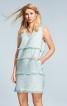 Сукня коротка з бахромою у швах - фото 1