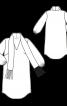 Сукня-туніка з коміром-шарфом із бахромою - фото 3