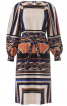 Сукня прямого крою з пишними рукавами - фото 2