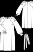 Сукня прямого крою з пишними рукавами - фото 3