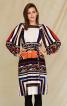 Сукня прямого крою з пишними рукавами - фото 1
