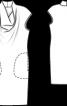 """Сукня з креп-сатину з коміром """"водоспад"""" - фото 3"""