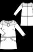 Сукня коротка А-силуету з вирізом крапелькою - фото 3