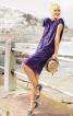 Сукня прямого крою з вирізом на спинці - фото 4