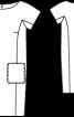 Сукня О-силуету з короткими рукавами кімоно - фото 3