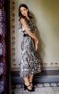 Сукня прямого крою з рукавами-крильцями - фото 1