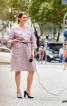 Сукня прямого крою з вкороченими рукавами - фото 1