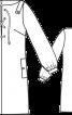 Сукня прямого крою зі шнурівкою - фото 3