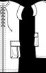 Сукня прямого крою зі шнурівкою і кишенями-портфелями - фото 3