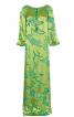 Сукня максі прямого крою з боковим розрізом - фото 2
