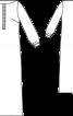 Сукня максі прямого крою з боковим розрізом - фото 3