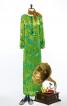 Сукня максі прямого крою з боковим розрізом - фото 1