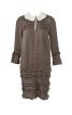 Міні-сукня з відкладним коміром - фото 2