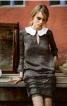 Міні-сукня з відкладним коміром - фото 1