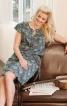 Сукня прямого крою з воланами - фото 1