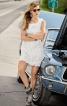 Сукня міні мереживна з вирізом на спинці - фото 1