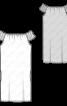 Сукня прямого крою з вирізом горловини кармен - фото 3