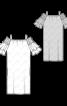 Сукня з вирізом кармен на широких бретелях - фото 3