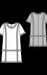 Сукня міні з контрастним оздобленням - фото 3