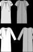 Сукня прямого крою з мереживними вставками - фото 3