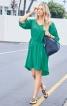 Сукня прямого крою з видовженою спинкою - фото 1
