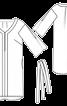 Сукня прямого крою з видовженою спинкою - фото 3