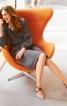 Сукня з рукавами реглан і вшитим поясом з буфами - фото 1