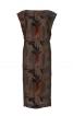 Сукня прямого крою з фігурними рукавами - фото 2