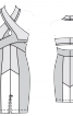 Сукня по фігурі з бретеллю-петлею - фото 3