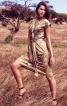 Сукня по фігурі з коміром-шарфом - фото 1